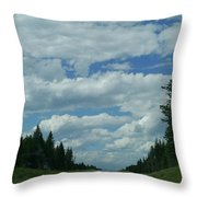 On The Way Again Throw Pillow