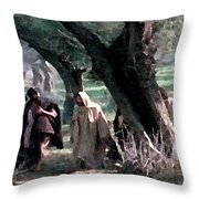 On The Way To Gethsemane Throw Pillow