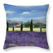 On The Way To Roussillon Throw Pillow by Anastasiya Malakhova