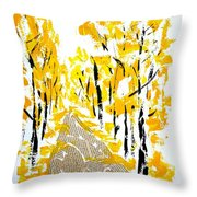 On The Way To School Throw Pillow