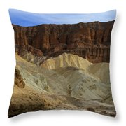 On The Way To Sunday Services Red Cathedral In Death Valley National Park Throw Pillow