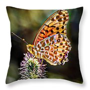 On The Wings Of A Butterfly... Throw Pillow