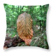 On The Wrong Tree Throw Pillow