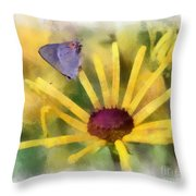 On The Yellow Throw Pillow