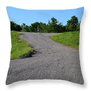 On To The Gravel Road Throw Pillow