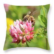 On Top Of The Blossom Throw Pillow