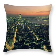 On Top Of The City Throw Pillow