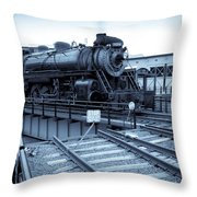 On Turntable Throw Pillow