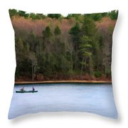 On Walden Pond Throw Pillow by Jayne Carney