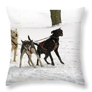 On Your Mark Throw Pillow