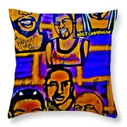 Once A Laker... Throw Pillow by Tony B Conscious