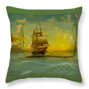 Once In A Bottle Throw Pillow by Jeff Burgess