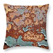 Once Painted Throw Pillow