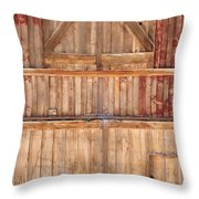 Once Red Doors Throw Pillow