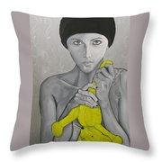 Once There Was A Girl Throw Pillow
