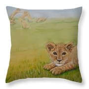 Once There Was A Lion Named Leo Throw Pillow