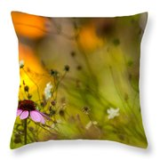 Once Upon A Time There Lived A Flower Throw Pillow