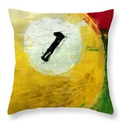 One Ball Billiards Abstract Throw Pillow