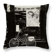 One Bike For Two. Trash Sketches From The Amsterdam Streets Throw Pillow