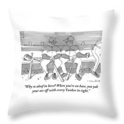 One Boston Red Sox Player Addresses Another Throw Pillow
