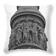 One Constitution Throw Pillow by Teresa Mucha