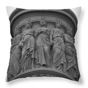 One Country Throw Pillow by Teresa Mucha