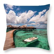 One Day At Heaven Throw Pillow