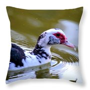 One Drop's Reflection Of The Muscovy Throw Pillow