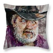 One Eyed Cowboy  Throw Pillow