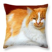 One Eyed Jack Throw Pillow
