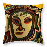 One Eyed Mystery Women Throw Pillow