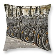 One Fine Morning In Paris Throw Pillow