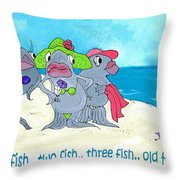 One Fish Two Fish Throw Pillow