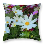 One Flower Stands Out Throw Pillow