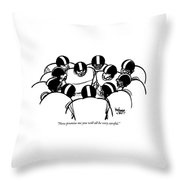 One Football Player Says To The Others Throw Pillow