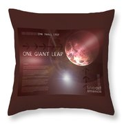 One Giant Leap Throw Pillow