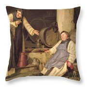 One Glass Too Many Throw Pillow