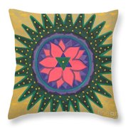 One Gold Bindu Throw Pillow