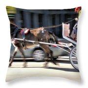 One Horse Power Throw Pillow