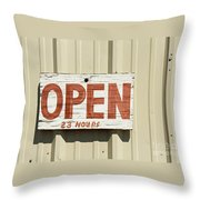 One Hour Lunch Throw Pillow