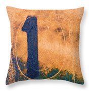 One In Zero Throw Pillow by Carol Leigh
