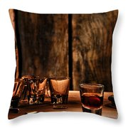 One Last Drink Throw Pillow by Olivier Le Queinec