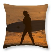 One Last Wave Throw Pillow by Bruce Frye