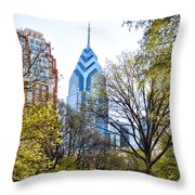 One Liberty Place Throw Pillow