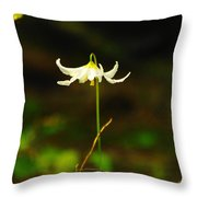 One Lily Almost Alone Throw Pillow