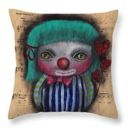 One Love Clown Throw Pillow