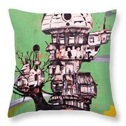 One Love Panda Throw Pillow