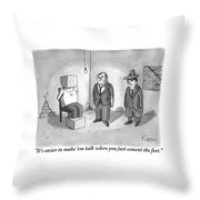 One Mafioso To Another Throw Pillow by Zachary Kanin