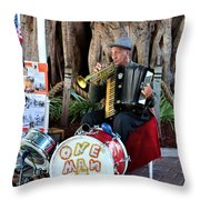 One Man Band - Miami Florida Throw Pillow