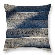 One Mile Throw Pillow